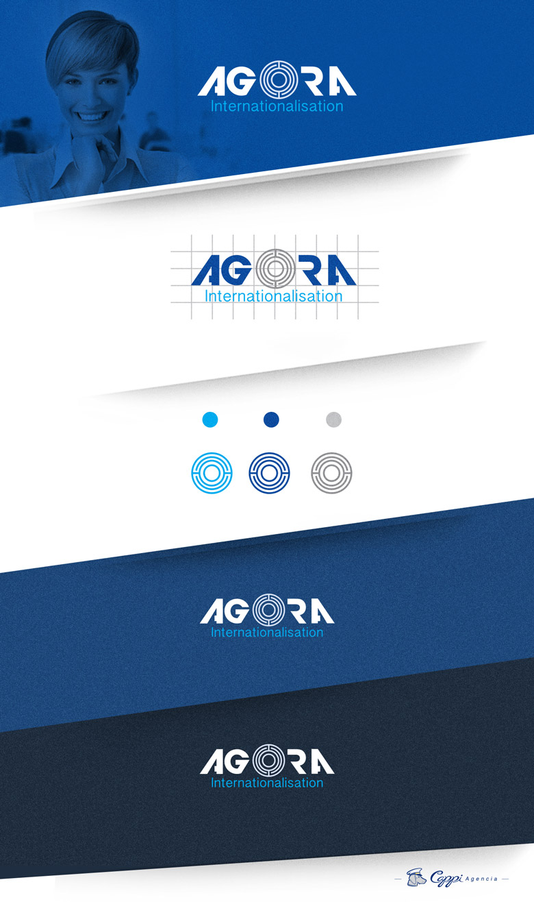 Logo corporativo agora internationalisation